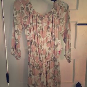 NWT Hot Kiss Floral Romper
